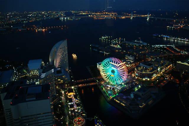 横浜ランドマークタワースカイガーデンからの夜景