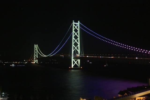 シーサイドホテル舞子ビラ神戸の部屋からの夜景
