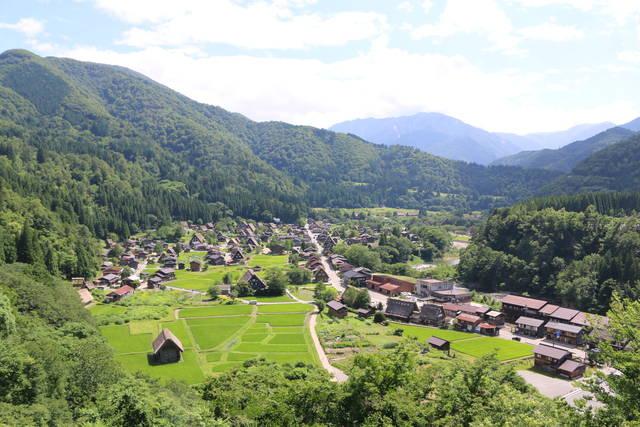 荻町城跡展望台からの風景